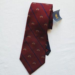 Vintage Men's Tommy Hilfiger Tennis Racket Tie